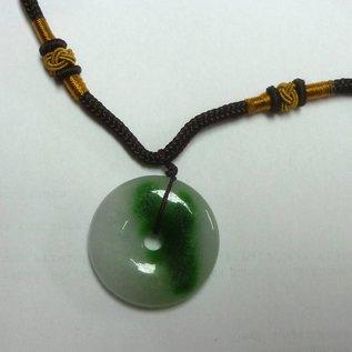 Kette mit chinesischer Jade-Münze (30x5mm)