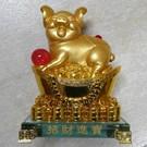 Goldenes Glücksschwein