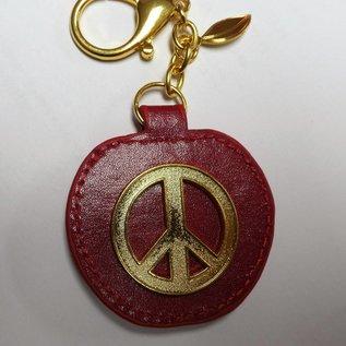 peace apple keychain