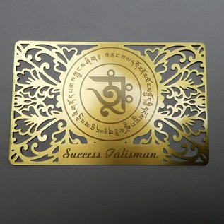 Erfolgs - Talisman auf goldener Karte 8x5,5cm