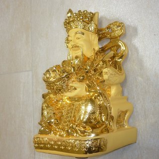 Exclusiver goldbeschichteter Reichtumsgott, ca. 28 x 16 x 15cm