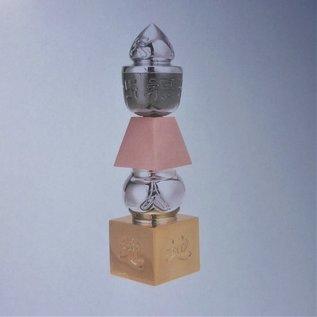 3-farbige Pagode 5 Elemente , massiv, abschraubbare Spitze, ca.14cm