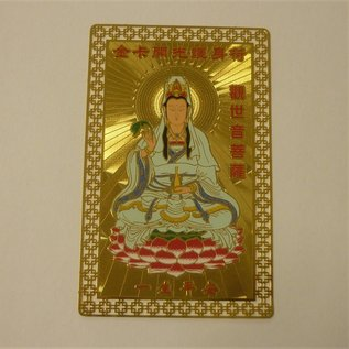 Metallkarte Kuan Yin , Göttin der Barmherzigkeit, ca. 5x8cm