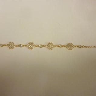 Edelsteinbesetztes Armband mystischer Knoten