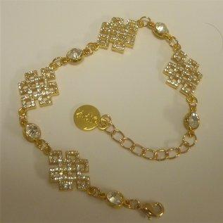 Bejeweled Mystic Knot Bracelet