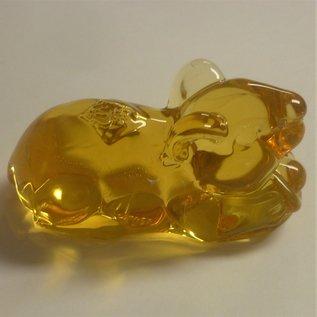 Wohlstands- Ratte mit Goldbarren ca.7x3,5x5cm