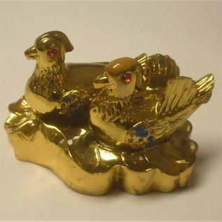 golden pair of mandarin ducks