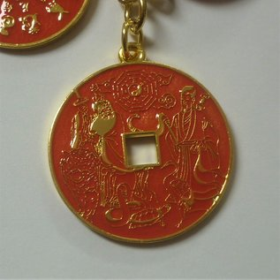 Anhänger mit 5 Schutz- und Segensmünzen für verschiedene Aspekte, d=3cm(14cm)