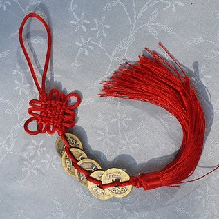 Hanger of chinese coins and tassel