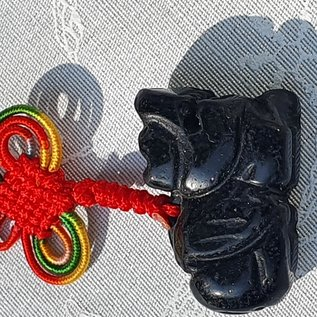 Pi Yao Schutzamulett Obsidian