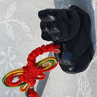 Feng Shui Piyao Protection Amulet Obsidian