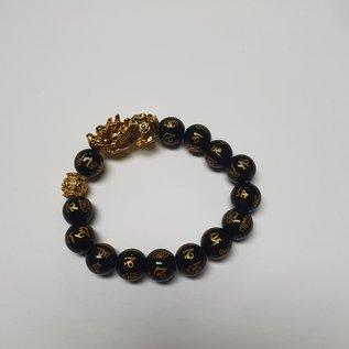 Pi Yao bracelet with mantra beads