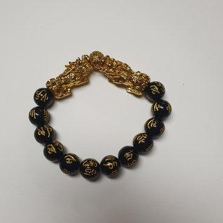 2 Pi Yao bracelet with wealth mantra beads