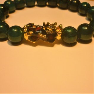 Pi Yao bracelet with Jade beads for wealth