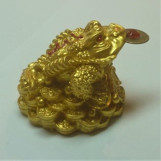 golden money frog , 5x4cm