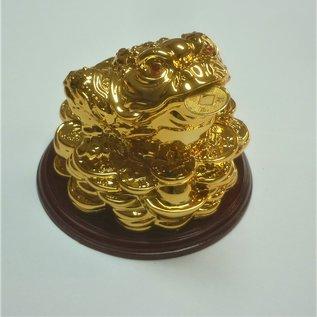 golden money frog , 8x8cm