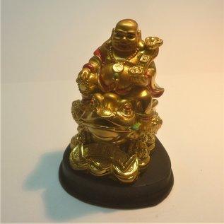 золотой смеющийся Будда  7x7,5x9см