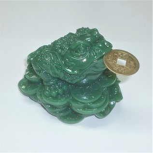 money frog green jade 8x6 cm