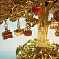 Tree bringing 3 kinds of wealth,ca.13x8x14cm
