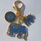 "Брелок "" Слон с Носорогом"""