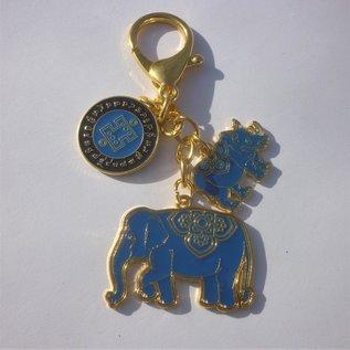 Nashorn und Elefant Amulett gegen Diebstahl und Raub , ca. 4(10)cm