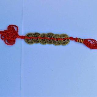 Связка из 6 китайских монет красная