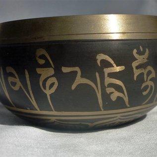 tibetan singing bowl black