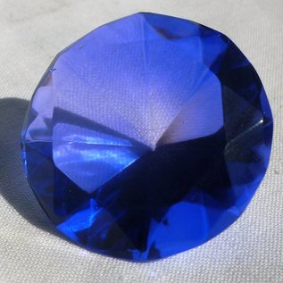 Синий  кристал 4Х3 см