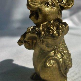 Glücksratte mit Ru Yi Zepter, ca.3-4cm