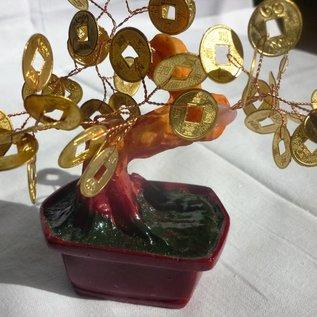 Geldbaum mit Münzen ca. 15cm