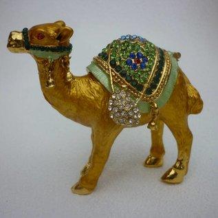 edelsteinbesetztes wunscherfüllendes Kamel ( ca. 8x3x8cm)