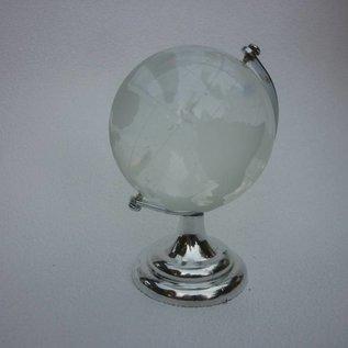 Globus, kristallklar, ca. 7x10cm