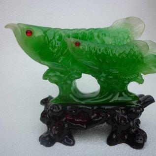 Arowana Fisch mit Kind (ca.13x5x10cm)