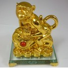 Goldener Affe mit Ru Yi