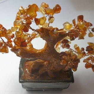 Wunschbaum mit Achat - Kristallen (ca.16x7x18cm)