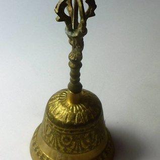 tibetische Handglocke 7 Metalle mit reinem Klang, ca.7x15cm