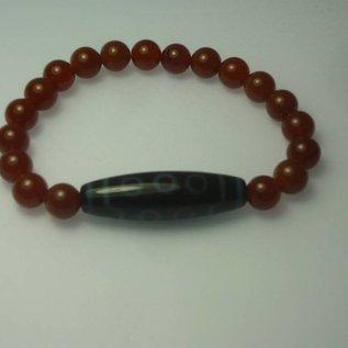 """Achat-Armband mit tibetischer Dzi - Perle """"10 Augen"""""""