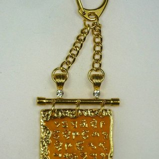 goldener Anhänger Medizin-Buddha Skript 4x4,5x10cm