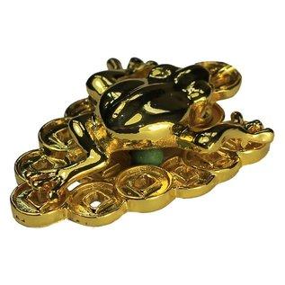 Goldener Geldfrosch Anhänger 2,5x3,5cm , l=10cm