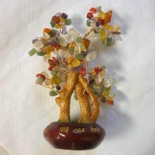 Kristallbaum mit vielseitig wirkenden Kristallen für gutes Feng Shui ca. 23 x 10 cm