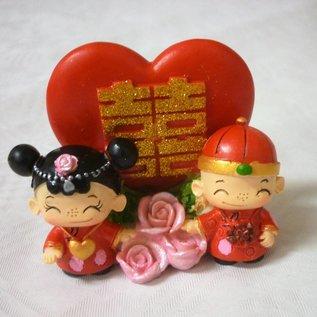 Feng Shui Hochzeitspaar für doppelte Freude ca.8x6x5cm