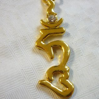 HUM -Anhänger - Heiliges Symbol für Schutz und Durchsetzung Ihrer Bestrebungen ca.4,5cm