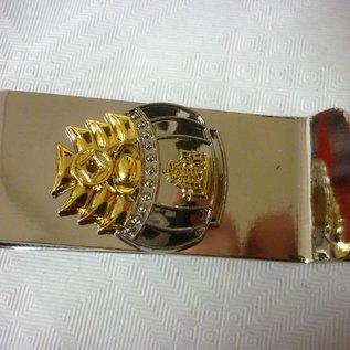Geldklammer mit Goldbarren-topf für Wohlstand , ca.7x2,5cm