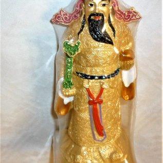Reichtumsgott Chai Sen Yeh mit Ru Yi und Goldbarren, ca. 11,5x5cm
