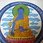 blauer Medizin Buddha Aufkleber für Gesundheit ca.13cm