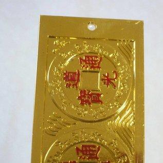 6 große glatte Münzen für Himmelsglück und reibungslose Abläufe 27x5cm