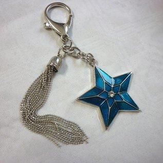 Anhänger himmlischer Stern für Glück im Jahr des Hahns, ca. 12x6cm