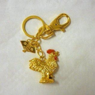 Schlüsselanhänger Feng Shui Hahn ,ca. 3x2xm ; 9,5cm