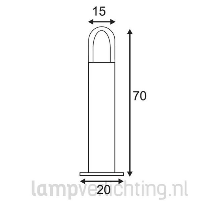 Staande Buitenlamp Roest Cortenstaal Rond 70 cm