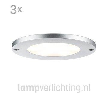 Platte LED Opbouw Spots Rond 3x4W